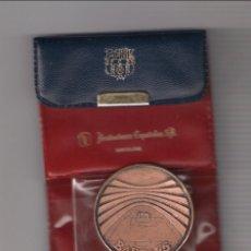 Trofeos y medallas: MEDALLA DEL 75 ANIVERSARI DEL BARÇA DE 1974 EN BRONCE DE ACUÑACIONES ESPAÑOLAS CON CARTERA. (MD95). Lote 182302102