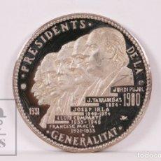 Trofeos y medallas: MEDALLA DE PLATA - PRESIDENTS GENERALITAT CATALUNYA 1931-1980. MACIÀ, COMPANYS, TARRADELLAS, PUJOL... Lote 182484918