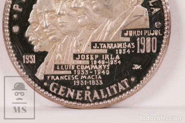 Trofeos y medallas: Medalla de Plata - Presidents Generalitat Catalunya 1931-1980. Macià, Companys, Tarradellas, Pujol.. - Foto 2 - 182484918