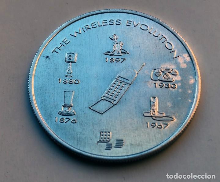 Trofeos y medallas: Medalla o moneda de la Expo 92 de Sevilla - Ameritech. - Foto 2 - 182661920