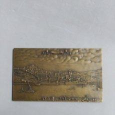 Trofeos y medallas: MEDALLA CONMEMORATIVA EN BROCE OPORTO, JORGE COELHO 83. Lote 182891898