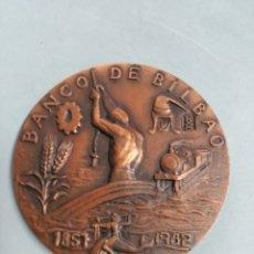 Trofeos y medallas: MEDALLA CONMEMORATIVA EN BRONCE BANCO DE BILBAO 1857-1982, CXXV ANIVERSARIO. Lote 183077225