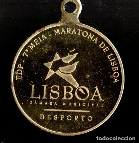 MEDALLA DEPORTIVA MARATONA DE LISBOA. DORADA. MEDALLA-063 (Numismática - Medallería - Trofeos y Conmemorativas)