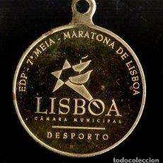 Trofeos y medallas: MEDALLA DEPORTIVA MARATONA DE LISBOA. DORADA. MEDALLA-063. Lote 183256678