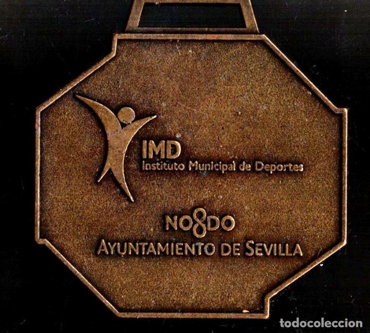 MEDALLA DEPORTIVA. XXIII MARATÓN CIUDAD DE SEVILLA. AYUNTAMIENTO DE SEVILLA. MEDALLA-070 (Numismática - Medallería - Trofeos y Conmemorativas)