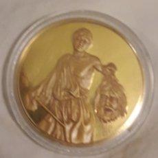Trofeos y medallas: PLATA Y ORO MEDALLON CONMEMORATIVO CARAVAGGIO. Lote 183864303