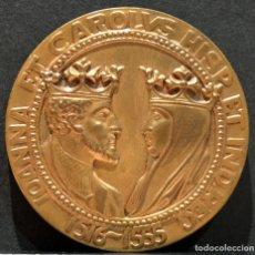 Trofeos y medallas: MEDALLA JUANA Y CARLOS CALICO REYES DE ESPAÑA. Lote 160039602