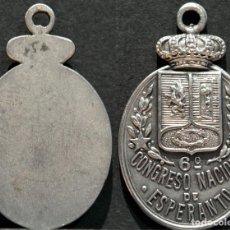 Trofeos y medallas: MEDALLA 6º CONGRESO NACIONAL DE ESPERANTO 1969 EXCELENTE CONSERVACIÓN. Lote 155514938