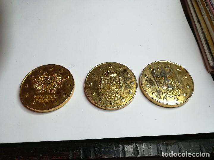 TRES MEDALLAS MONEDA PAISES CEE. ALEMANIA, PORTUGAL, ESPAÑA (Numismática - Medallería - Trofeos y Conmemorativas)