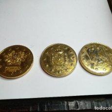 Trofeos y medallas: TRES MEDALLAS MONEDA PAISES CEE. ALEMANIA, PORTUGAL, ESPAÑA. Lote 184929787
