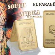 Trofeos y medallas: SUDAFRICA LINGOTE ORO 24 KILATES 33 GRAMOS ( HOMENAJE AL ELEFANTE Y A LA GACELA ) Nº3. Lote 215683050