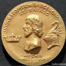 Trofeos y medallas: MEDALLA EN BRONCE JAUME I EL CONQUERIDOR JAIME I EL CONQUISTADOR ARAGON VALENCIA MALLORCA BARCELONA. Lote 186206922