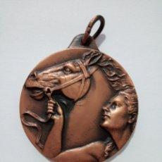 Trofeos y medallas: MEDALLA DE COBRE; PRIMER RAID INTERNACIONAL A CABALLO. VALLE DE ARÁN 7-9-1980. Lote 189564898
