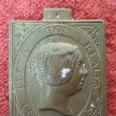 Trofeos y medallas: MEDALLA CONMEMORATIVA. CERTIFICADO 2 REALES. CORREOS. METAL. 1851. . Lote 191175005