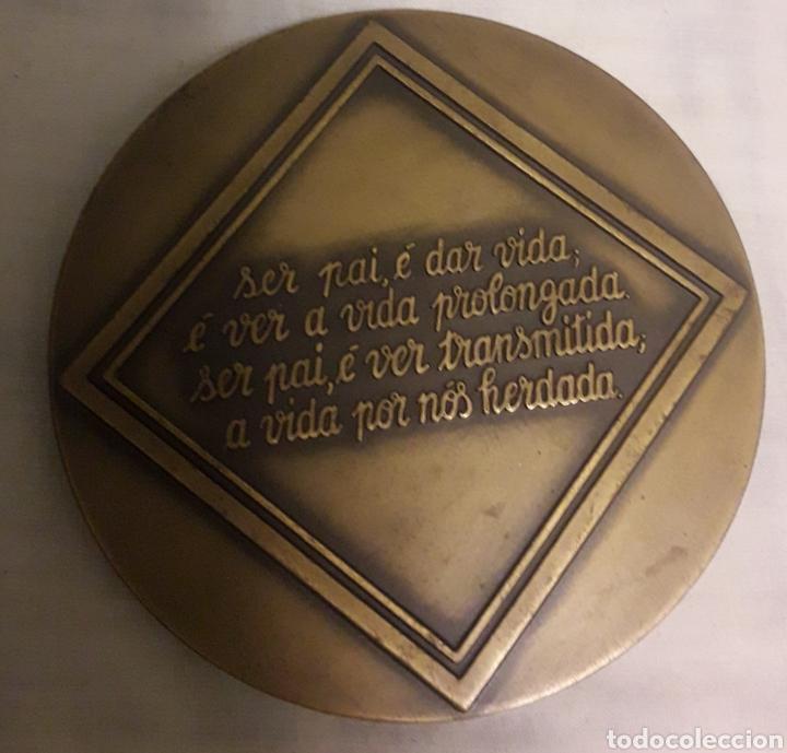 Trofeos y medallas: Precioso medallon de bronce día do pai - Foto 2 - 191843108