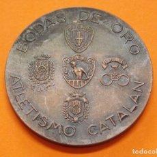 Trofeos y medallas: BODAS DE ORO ATLETISMO CATALAN - 1915 / 1965 - MEDALLA CONMEMORATIVA DE METAL .. L612. Lote 192724157