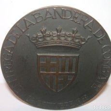 Trofeos y medallas: ANTIGUA MEDALLA.BARCELONA AL DEDALO ENTREGA DE LA BANDERA .PRIMER PORTAVIONES DE LA ARMADA ESPAÑOLA. Lote 193315536