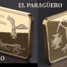 Trofeos y medallas: ALEMANIA LINGOTE ORO 24 KILATES 34 GRAMOS ( REPRESENTA LA 2ª GUERRA MUNDIA ALEMANIA NAZI ) Nº5. Lote 241535830