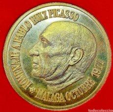 Trofeos y medallas: PICASSO MEDALLA CONMEMORACIÓN/ 1977/ ORO 22 K/ 40 MM/ 36,85 GRAMOS.. Lote 194097490
