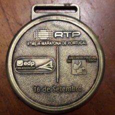 Trofeos y medallas: BRONCE MEDALLON MARADONA MARATÓN DE LISBOA. Lote 194239415