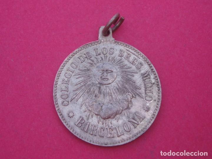 MEDALLA SIGLO XIX COLEGIO DE LOS SEÑORES MIMÓ. BARCELONA. (Numismática - Medallería - Trofeos y Conmemorativas)