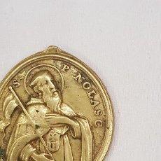 Trofeos y medallas: MEDALLA DEL SIGLO XVIII. SAN RAMON NONATO Y SAN PEDRO NOLASCO. . Lote 194271477