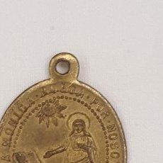 Trofeos y medallas: ANTIGUA MEDALLA SANTA MONICA Y NTRA. SRA. DE LA CONSOLACION PROTECTORA DE LAS ANIMAS.. Lote 194271733