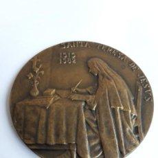 Trofeos y medallas: MEDALLA CONMEMORATIVA DE SANTA TERESA DE JESUS, IV CENTENARIO, AVILA 1982. Lote 194308315