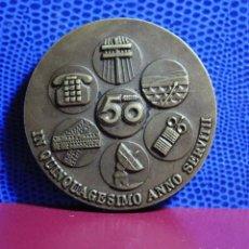 Trofeos y medallas: 2 MEDALLAS AÑOS 1975 Y 1976 COMPAÑÍA TELEFÓNICA NACIONAL ESPAÑA. VER FOTOS. Lote 194317326