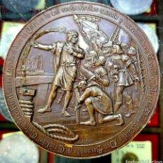 Trofeos y medallas: MEDALLA CRISTÓBAL COLÓN / 4° CENTENARIO DESCUBRIMIENTO AMÉRICA / 1892 / BRONCE/ 70MM/ 184,86 GRAMOS. Lote 194357983