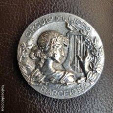 Trofeos y medallas: MEDALLA CIRCULO DEL LICEO, BARCELONA. Lote 194393230