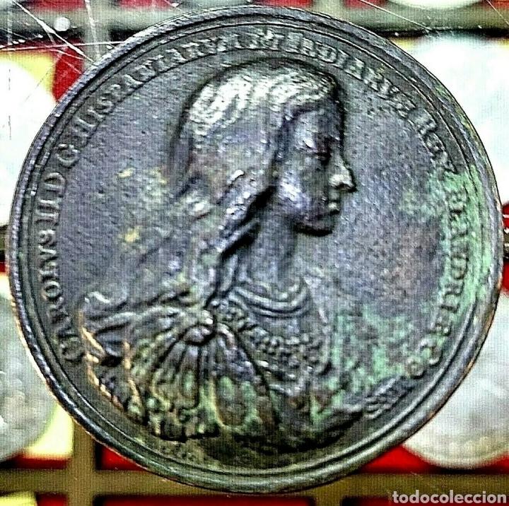 MEDALLA CARLOS II / BATALLA REGION DE FLANDES/ 42MM / 40,42 GRAMOS/ BRONCE (Numismática - Medallería - Trofeos y Conmemorativas)