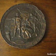 Trofeos y medallas: MEDALLA CONMEMORATIVA DEL CUARTO CENTENARIO DEL DESCUBRIMIENTO DE AMÉRICA. Lote 194582456