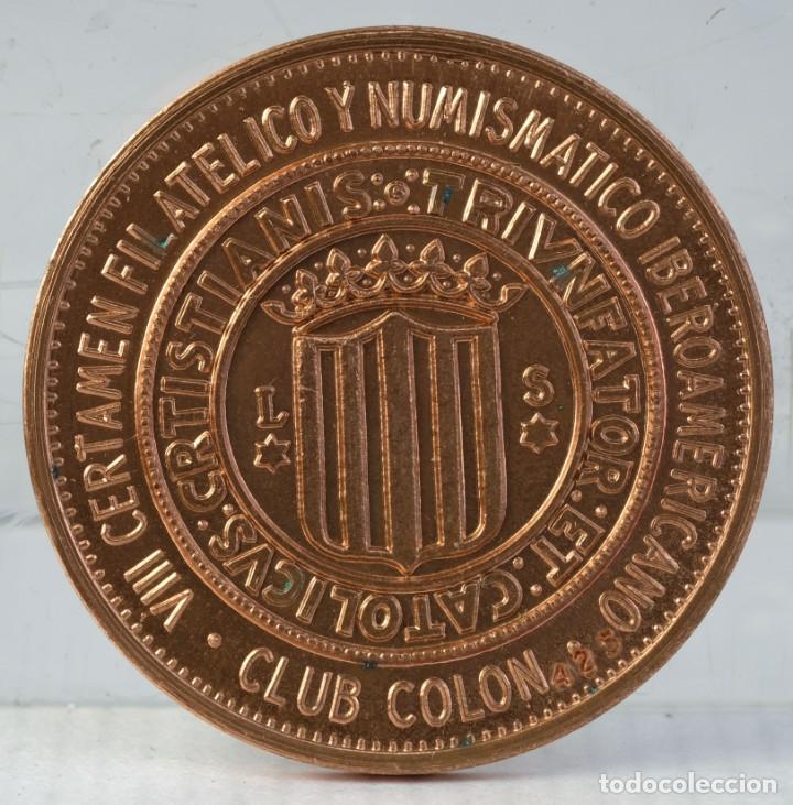 Trofeos y medallas: Medalla en cobre Juan Carlos y Sofia reyes de España - 11 mayo 1980 - 39 mm - Foto 2 - 194615218