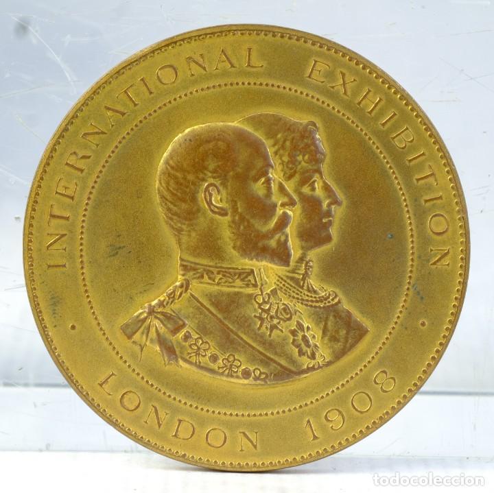 MEDALLA LONDON INTERNATIONAL EXHIBITION 1909 - 56 MM (Numismática - Medallería - Trofeos y Conmemorativas)