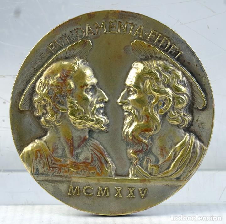 MEDALLA EN PLATA PIUS.XI.PON.M A.MAGNI.IUBILEI - 1925 - 54 MM - 70 GR (Numismática - Medallería - Trofeos y Conmemorativas)
