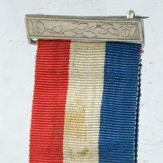 Trofeos y medallas: MEDALLA EN PLATA CORONARION OF KING GEORGE & QUEEN ELISABETH 12 MAYO 1937 - 32 MM. Lote 194616120