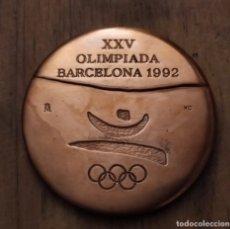Trofeos y medallas: ## OLIMPIADAS BARCELONA 92 MEDALLA CONMEMORATIVA VOLUNTARIOS Y COLABORADORES - FNMT ##. Lote 194722347