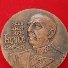 Trofeos y medallas: MEDALLON CONMEMORATIVO GENERALISIMO FRANCO. Lote 194727065