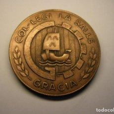 Trofeos y medallas: GRAN MEDALLA DEL COLEGIO LASALLE, BARCELONA, AÑOS 80. Lote 195070418