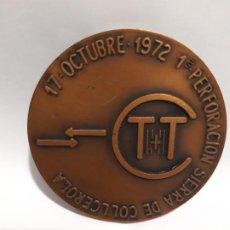 Trofeos y medallas: MEDALLA CONMEMORATIVA CONSORCIO TUNELES TIBIDABO BARCELONA 1972. Lote 195224843