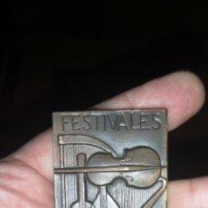 Trofeos y medallas: MEDALLA CONMEMORATIVA DE LOS FESTIVALES DE GRANADA. Lote 195255821