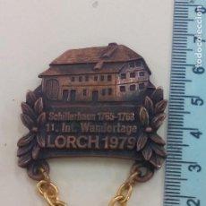 Trofeos y medallas: LORCH 1979. SCHILLERHAUS 1765-1768 11. INT. WANDERTAGE. MEDALLA, INSIGNIA. ALEMANIA, SENDERISMO. Lote 195466933