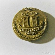 Trofeos y medallas: MEDALLA LEGRAIN PARIS 50 AÑOS ROYALE AMBREE 1919-1969 PLASTICO DURO 3,50 CM PUBLICIDAD . Lote 195507223