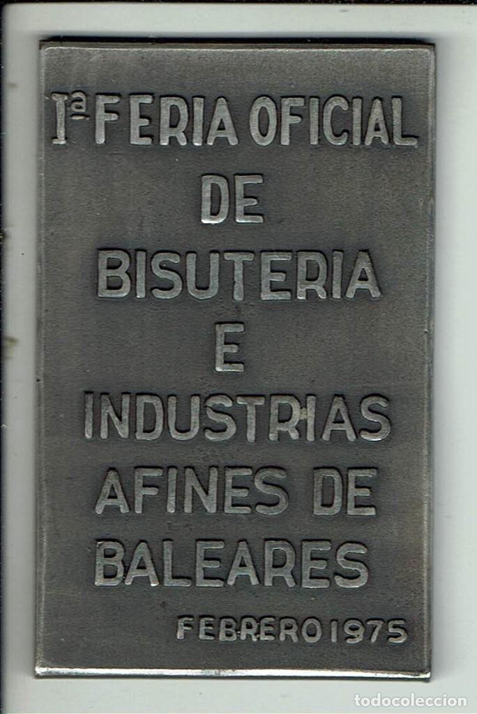 Trofeos y medallas: MEDALLA/PISAPAPELES CONMEMORATIVO SEBIME 1975 MAHÓN MENORCA - Foto 2 - 46467852