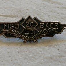Trofeos y medallas: 20 AÑOS DE SERVICIO MSO BAOR.. Lote 195965887