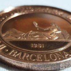 Trofeos y medallas: MEDALLA + CARTERA 6 MONEDAS - II CONV. NUM. ASECONUM - BARCELONA 1981. Lote 196378408