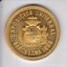 Trofeos y medallas: MEDALLA DE LA EXPOSICION UNIVERSAL BARCELONA 1888 - MORATONA GENIS Y BUREAU - PRINCESA 53. Lote 196803283