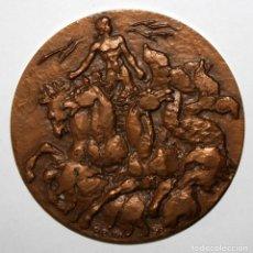 Trofeos y medallas: MEDALLA EN BRONCE DE GUY-CHARLES REVOL (1912-1991) ENERGIE HYDRAULIQUE.. Lote 197643973