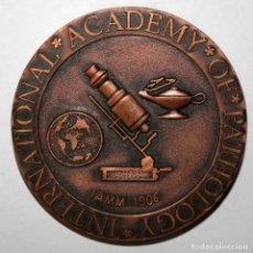Trofeos y medallas: MEDALLA REALIZADA EN BRONCE DE INTERNATIONAL ACADEMY OF PATHOLOGY. Lote 197647362